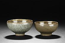A PAIR OF LONGQUAN WARE BOWLS