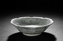 A GUAN KILN FLORIFORM BOWL