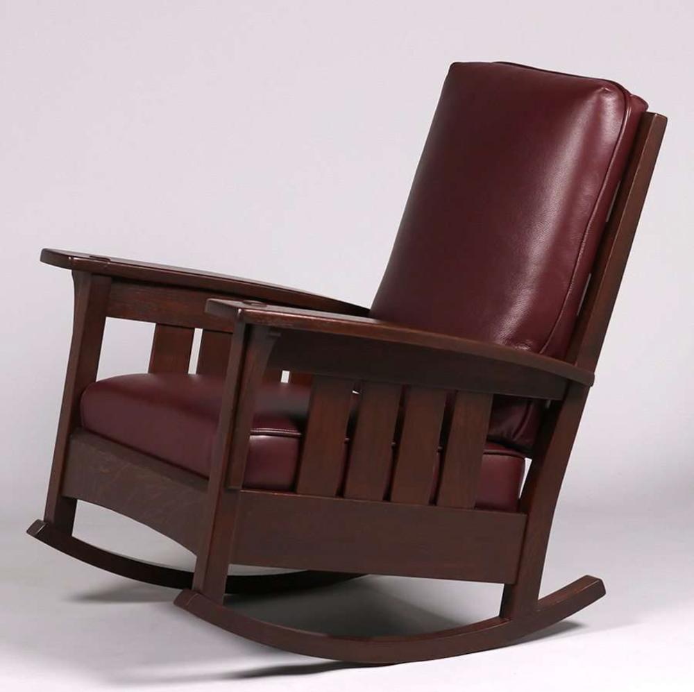 Terrific Ljg Stickley 475 Fixed Back Slatted Rocker Creativecarmelina Interior Chair Design Creativecarmelinacom