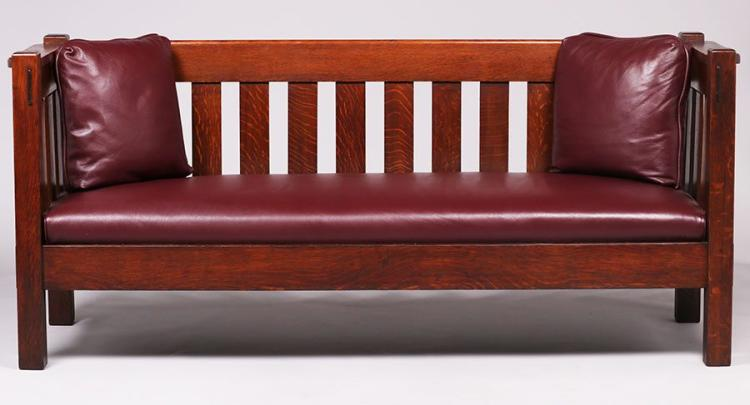 Harden furniture co classic evenarm settle c1910 American classic furniture company