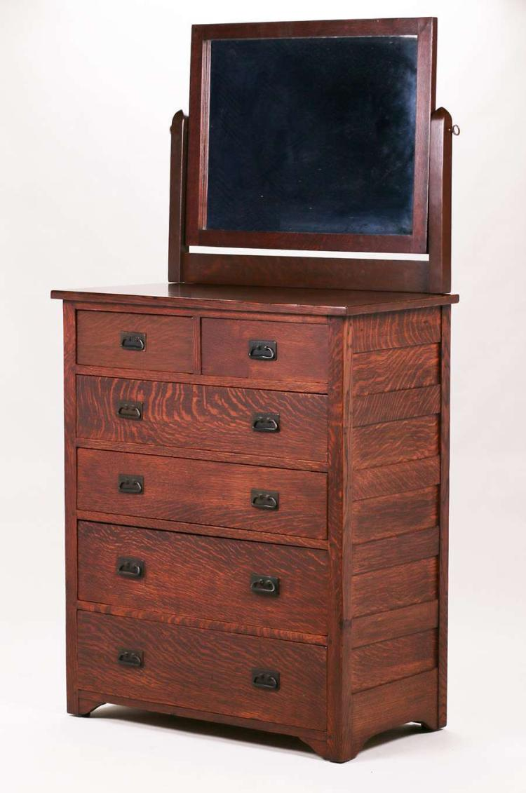 L Amp Jg Stickley Onondaga Tall Dresser With Mirror