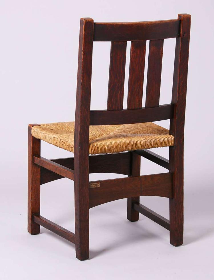 4 l jg stickley dining chairs