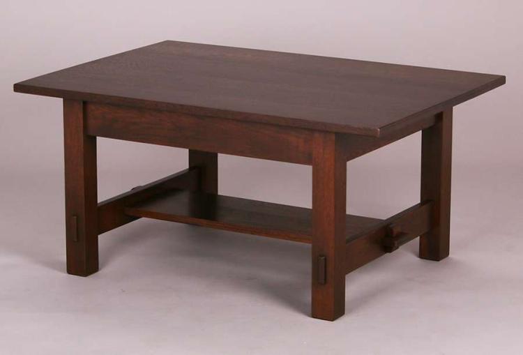 L Jg Stickley Coffee Table 40 W