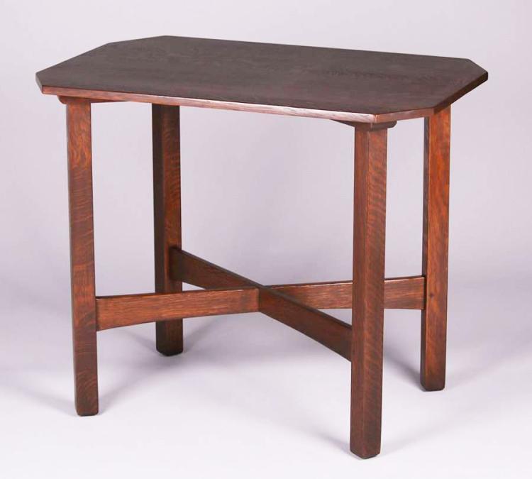 l jg stickley rectangular clip corner l table 700 c f194d869c7