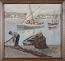 'Cesare Esposito (1886-1943) ''Barche con