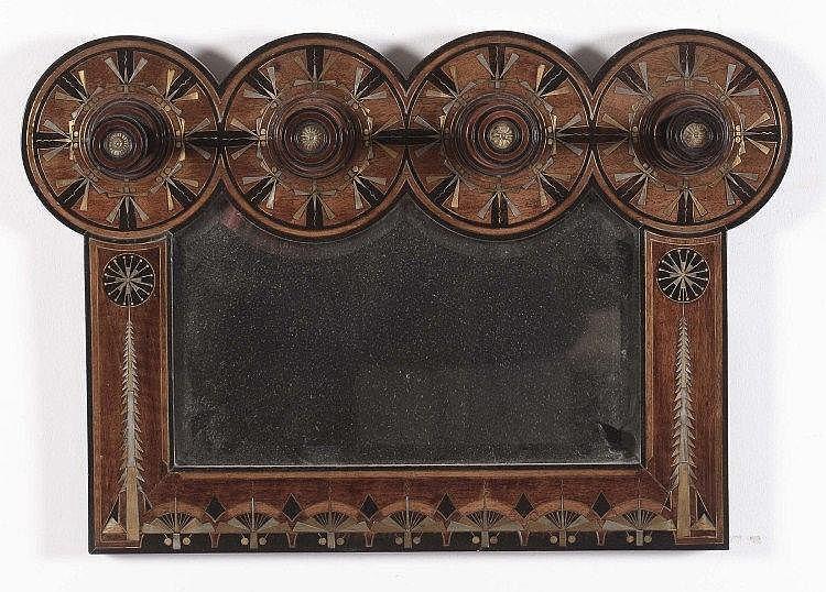 Carlo bugatti 1856 1940 milano appediabiti con specchio for Lots specchio