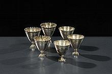 Sei bicchierini in argento, Arte Ottomana del XIX secolo