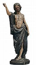 Scultura in legno policromo raffigurante Cristo con veste blu, XVIII secolo