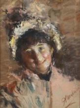 Antonio Mancini (1852-1930), Testolina al sole