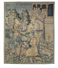 A tapestry with a hunt scene, Flanders, 16th century