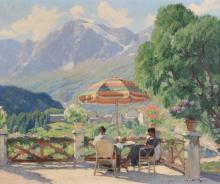 Mario Moretti Foggia (1882-1954), Figure in terrazza