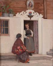 Mario Moretti Foggia (1882-1954), Donne sulla porta