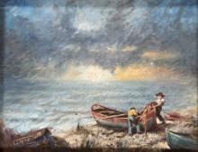 Clemente Tafuri (1903-1971), Marina con pescatori