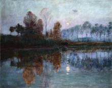 Giuseppe Sacheri (1863 - 1950), Paesaggio campestre, 1898