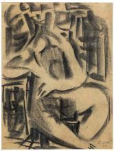 Emilio Notte (1891-1982), Nudo seduto, 1918