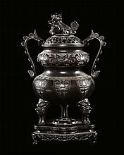 A bronze censer, China, Qing Dynasty, Qianlong