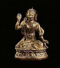 A copper Buddha, China, Ming Dynasty, 17th century