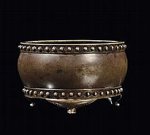 A small bronze censer, China, Ming Dynasty, 17th