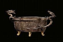 A bronze cachepot with