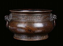 A bronze censer, archaic shape, China, Qing
