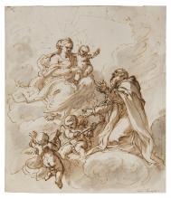 Giuseppe Zocchi (Firenze 1711-1767) attribuito a, Apparizione della Vergine