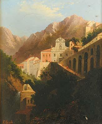 Salvatore Fergola (1799-1874), attr. Paesaggio