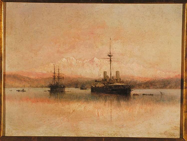 Agostino Fossati (1830-1904) Le Alpi Apuane olio