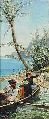 Gustav Zorn (1845-1893) Bordighera, 1882 olio su