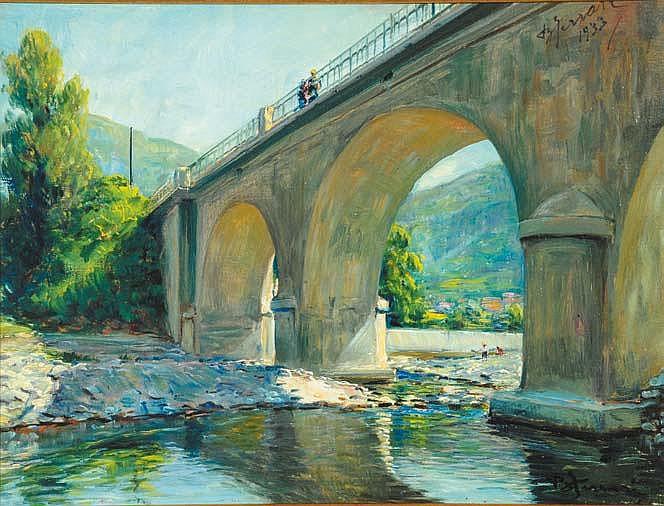 Berto Ferrari (1887-1965) Il ponte sullo Scrivia