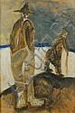 Lorenzo Viani (1882-1936) Figure in barca tecnica, Lorenzo Viani, Click for value