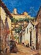 Alessandro Lupo (1876-1953) Scorcio di paese olio, Alessandro Lupo, Click for value