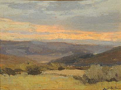 Antonio Schiaffino (1879-1968) Paesaggio olio su