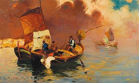 Salvatore Balsamo (1894-1922) Pescatori nella baia