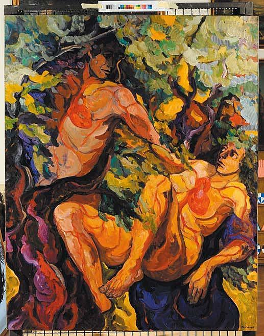Saverio Terruso (1939-2003) Simbiosi olio su tela,