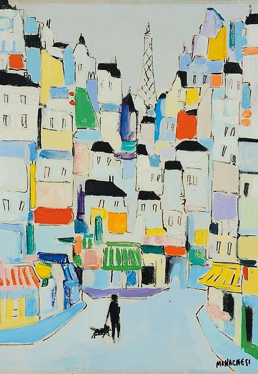 Sante Monachesi (1910-1991) Case di Parigi, 1967