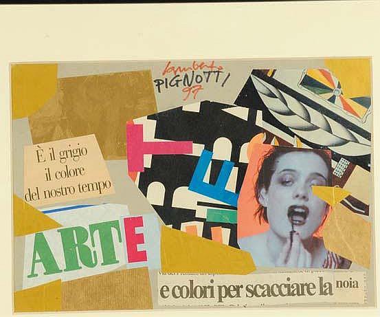 Lamberto Pignotti (1926) Arte, 1997 tecnica mista