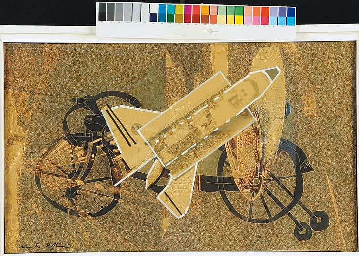 Renato Volpini (1934) La bici spaziale, 2002