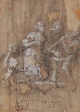 Ludovico Carracci (1555-1619), cerchia di, Figura di Santa