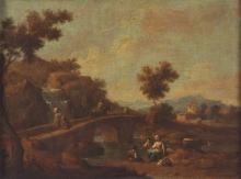Giuseppe Zais (Forno di Canale 1709 - Treviso 1784), Coppia di paesaggi