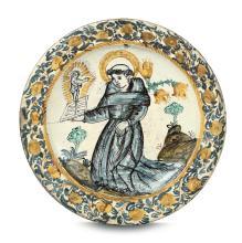 Grande piatto Probabilmente Laterza, XIX secolo,
