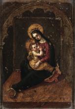 Scuola del XVII secolo, Madonna con Bambino