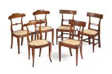 Gruppo di sei sedie, XIX secolo,