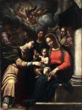 Scuola dell'Italia centrale del XVII secolo, Sposalizio mistico di Santa Caterina