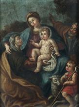 Scuola del XVII-XVIII secolo, Sacra Famiglia