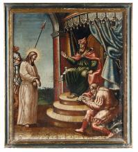 Scuola del XVIII secolo, Cristo da Pilato