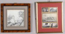 Lotto di due disegni, XIX secolo,