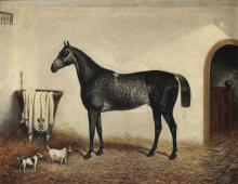 William Eddowes Turner (1820 - 1885), Horse in a stable