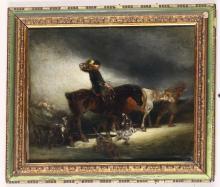 Daniele Ranzoni (1843 - 1889), Alla caccia