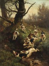 Thomas Blinks (1860 - 1912), Fox and Hounds