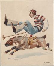 Charles Fernand De Condamy (circa 1855 - 1913), Polo pony and rider